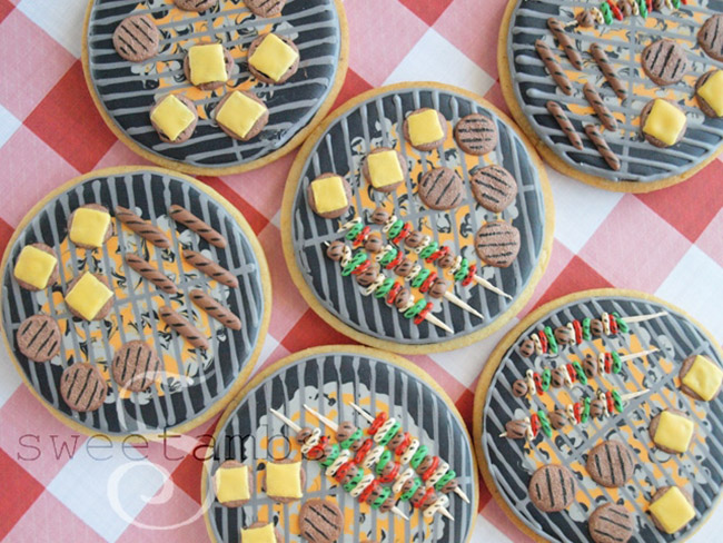 Father's Day grill cookies-See more Grillin Father's Day Ideas On B. Lovely Events!