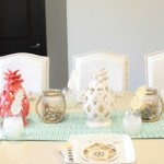 Father's Day Nautical Pineapple Tablescape - See how adorable this table is on B. Lovely Events!