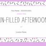 Fun Filled Afternoon SUmmer Invite