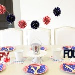 Stars and stripes, red, white and blue tablescape for 4th of July-B. Lovely Events