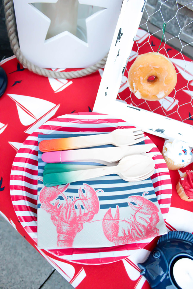 BBQ Plates and Napkins- so cute! - B. Lovely Events