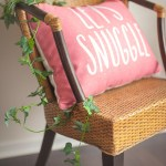 Baby shower lets snuggle pillow