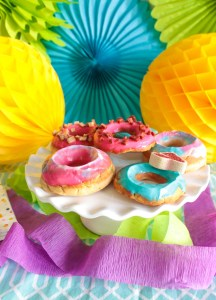 Colorful Dog Donuts For A Doggie Party!
