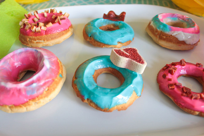 DIY Colorful Dog Treat Donuts- Get the DIY on B. Lovely Events!