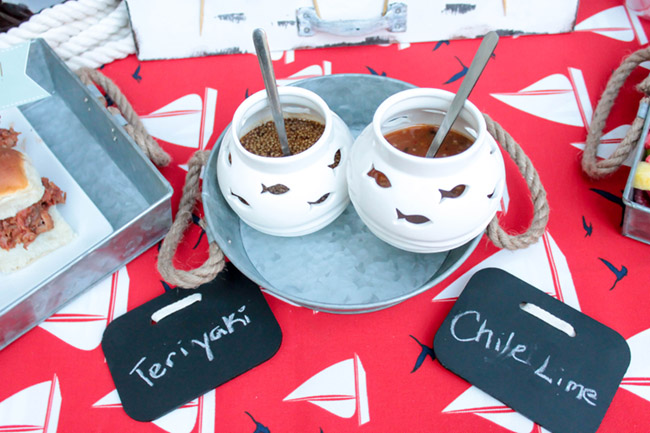 Fun Displays for Condiments for BBQ! B. Lovely Events
