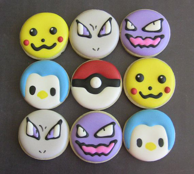 Love these cute Pokemon Cookies! - See more cute Pokemon Party Ideas on B. Lovely Events