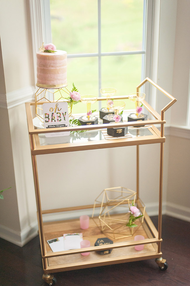 Lovely Baby Shower Drink Cart