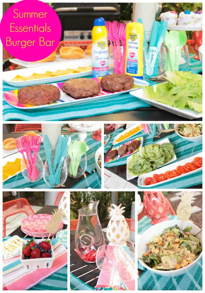 Summer Essentials Burger Bar- Learn What You Need At B. Lovely Events!