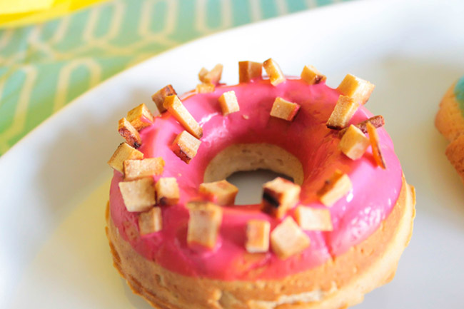 Treat Topped Dog Donuts- Get the recipe from B. Lovely Events