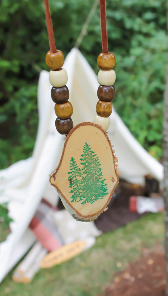 Fun Kids camp out nature necklaces - See More Lovely Kid's Camp Out Ideas on B. Lovely Events