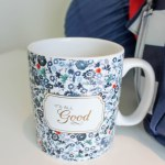Lovely Floral and Gold Coffee Cup From Jo-Ann