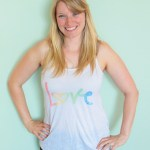 Lovely Watercolor Love Tank from Zazzle!