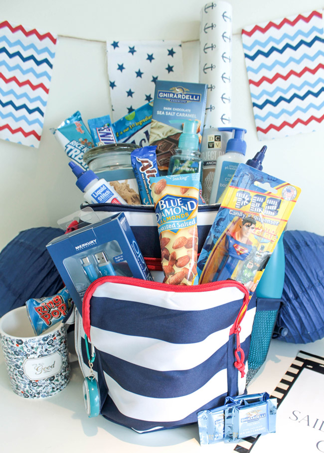 Nautical Send Off Basket- Sailing Away To College- B. Lovely Events