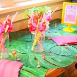 pineapple flamingo party drink station