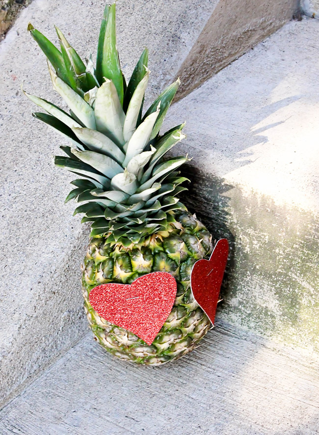 Fun heart pineapple