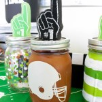 love-this-football-mason-jar-diy- See how on B. Lovely Events