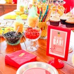 Lovely Flamingo Party Dessert Bar