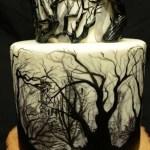 Spooky Silhouette Halloween Cake