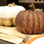 Metallic pumpkins Centerpieces. Great for a Thanksgiving- B. Lovely Events