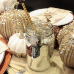 Metallic silver mirrored glass for lovely Fall Drinks!- B. Lovely Events