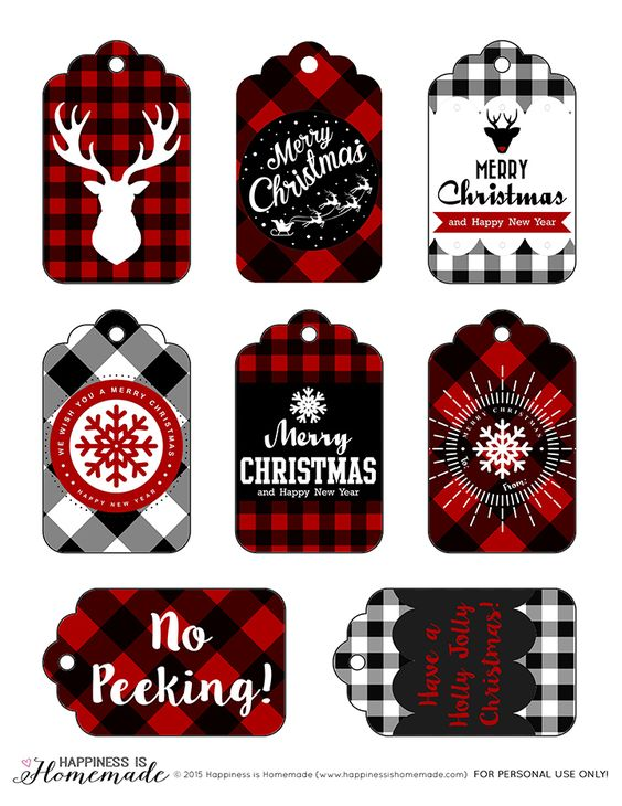 buffalo plaid Christmas tags - See More Buffalo Check Ideas on B. Lovely Events