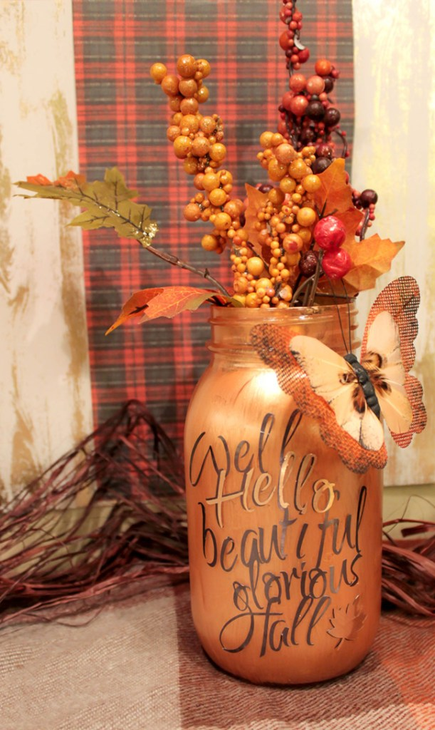 DIY Fall Mason Jars- See How To Make Them On B. Lovely Events