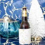 love this gold spotted koozie! Fab Christmas gift too
