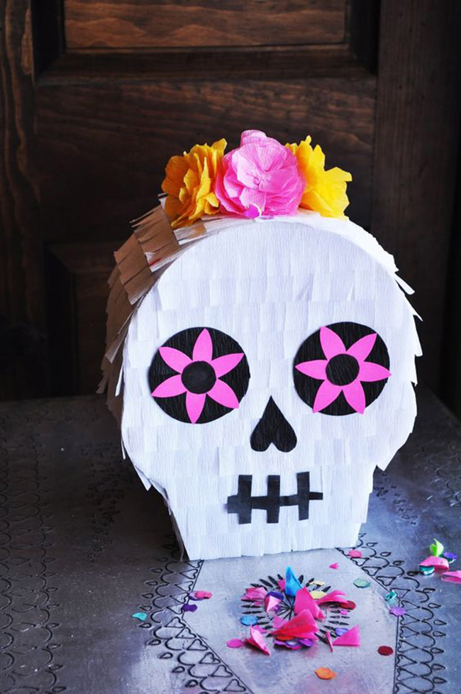 oh my gosh the cutest day of the dead pinata- See more ideas on B. Lovely Events