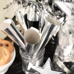 Black and Silver New Year's Eve Horns With Amols & B. Lovely Events