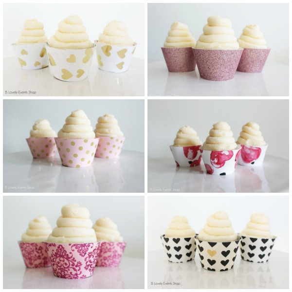 New Valentine's Day Cupcake Wrappers In The Shop!