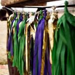 Mardi Gras Tassle Garland- See More Mardi Gras Ideas on B. Lovely Events