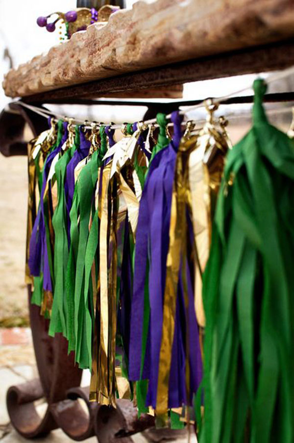 Mardi Gras Tassle Garland- See More Mardi Gras Ideas on B. Lovely Events