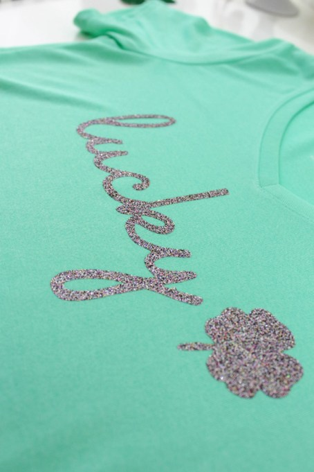 DIY Lucky Shirt for St. Patrick's Day -See how to make it on B. Lovely Events