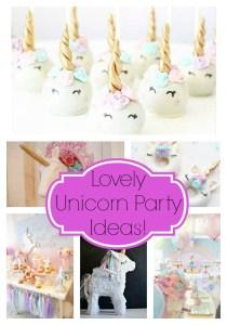 Lovely Unicorn Party Ideas!