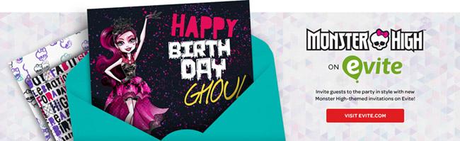 Monster High Birthday Invitations