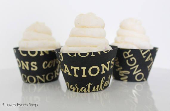 Congratulations Graduation Cupcake Wrappers