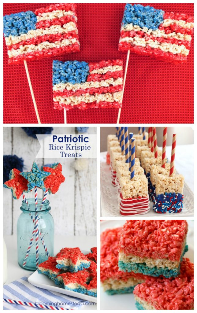 Patriotic 4th of July Rice Krispie Treats! See them all on B. Lovely Events