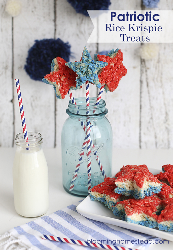 Patriotic-Rice-Krispy-Treats-by-Blooming-Homestead- See all 8 AWESOME 4th of July Rice Krispy ideas on B. Lovely Events!