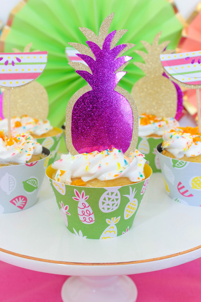 Love these pineapple cupcakes- B. Lovely Events