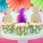 Summer Party Cupcakes DIY With Cricut - See how to make them on B. Lovely Events