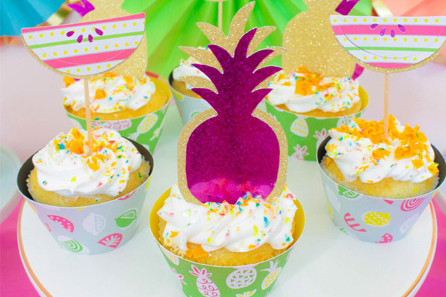 Tutti Frutti Summer Party Cupcakes!