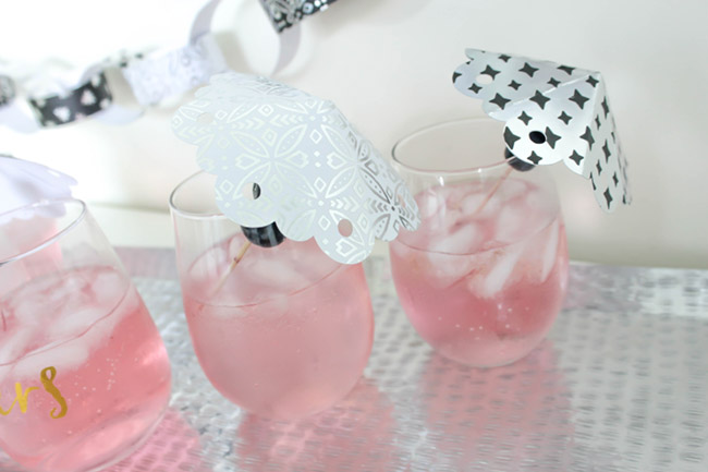 DIY Drink Umbrellas! Learn how to make them on B. Lovely Events! Adorable!
