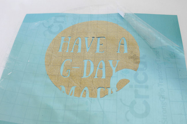 DIY Have a G-Day Mate Tote- see how to make it at B. Lovely Events