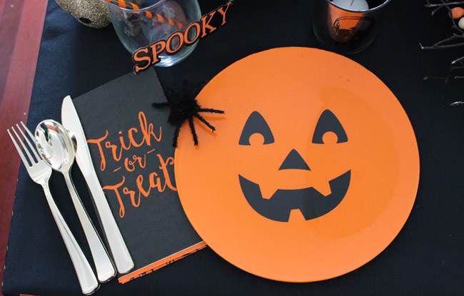 Halloween Tablescape Placesetting- so fun! - See All Of The Lovely Details On B. Lovely Events