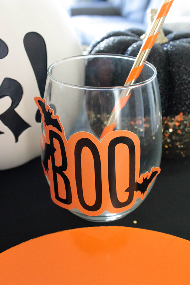 Love this Boo wine glass for Halloween!- See All Of The Lovely Details On B. Lovely Events