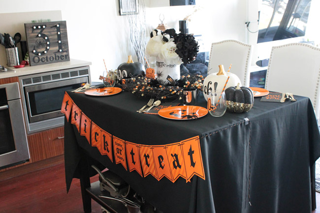 Sophisticated And Fun Halloween Tablescape - See All Of The Lovely Details On B. Lovely Events