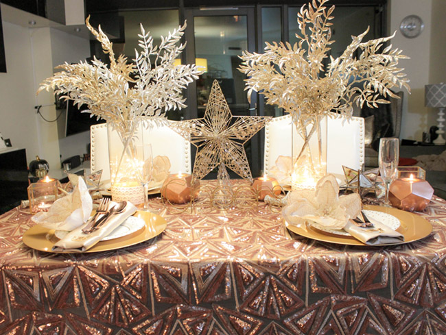 New Year's Eve Tablescape- Love this! B. lovely Events
