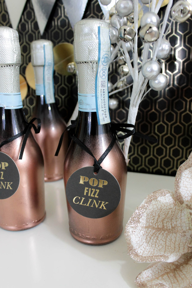 New Years eve Champagne favors - B. Lovely Events