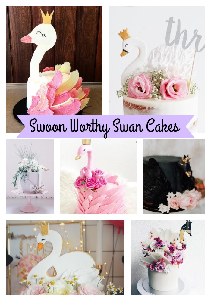 Swoon Worthy Swan Cakes on B. Lovely Events