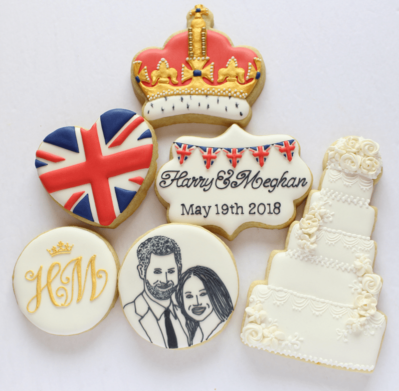 The best Harry And Meghan cookies ever! - See More Royal Wedding Lovlieness at B. Lovely Events #royalwedding #partyplanning #partythemes